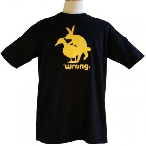 Wrong Funny Rabbit and Duck T-Shirt